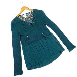 ☕️5/$25 Knox Rose Hunter Green Small Tunic Top
